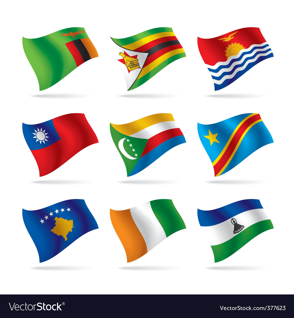 Set of world flags 12 vector | Price: 1 Credit (USD $1)