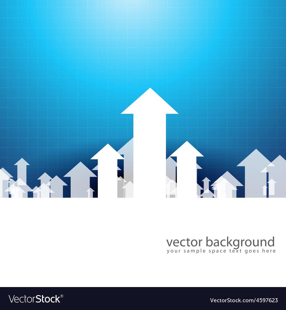 Upside growing arrow vector | Price: 1 Credit (USD $1)