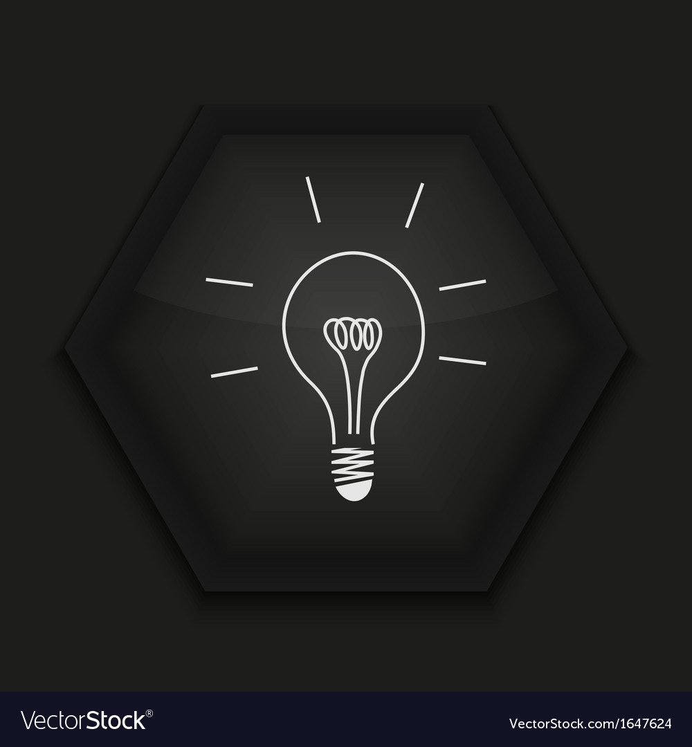 Creative icon on black background eps10 vector | Price: 1 Credit (USD $1)