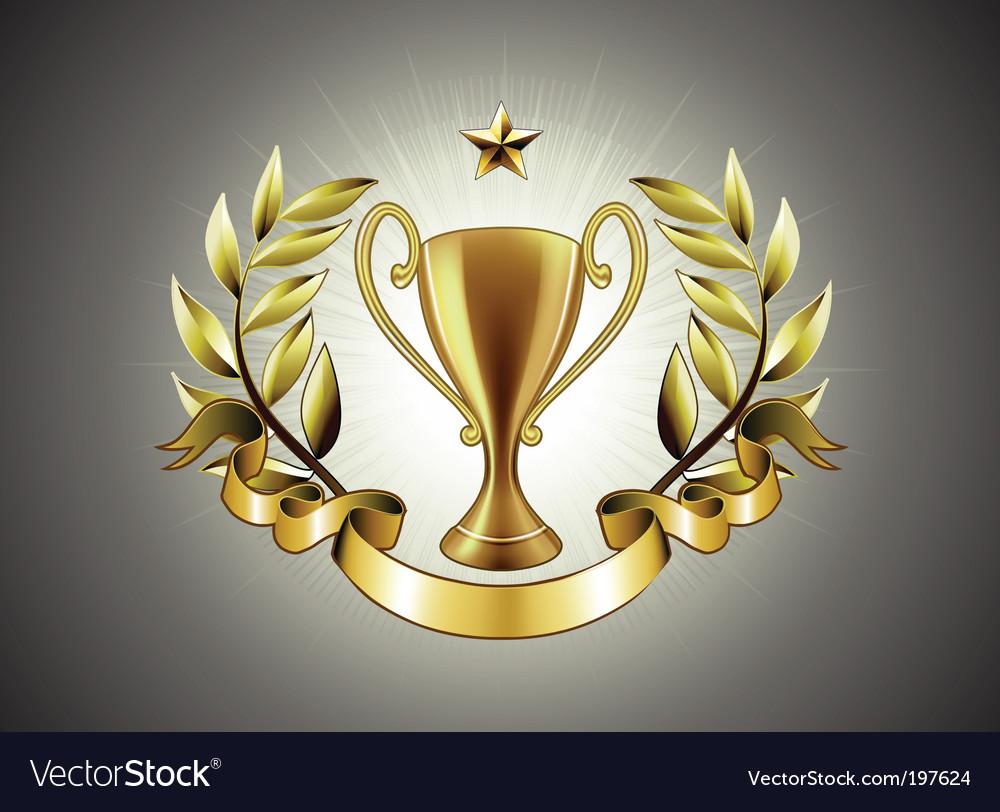 Golden cup vector | Price: 1 Credit (USD $1)