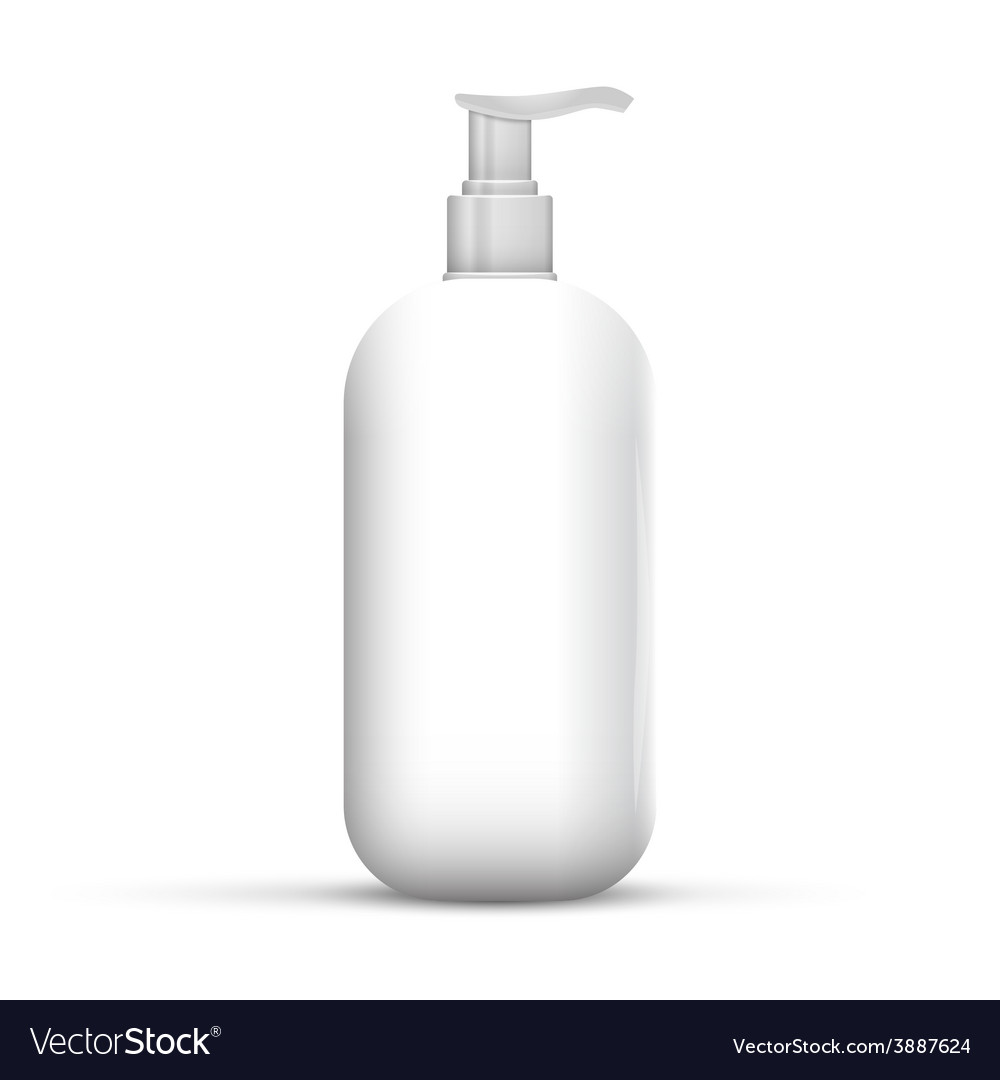 Plastic clean white bottle with dispenser pump vector | Price: 1 Credit (USD $1)
