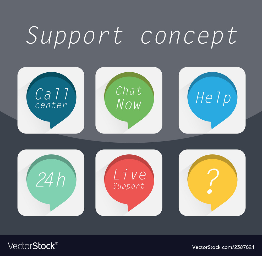 Support concept vector | Price: 1 Credit (USD $1)