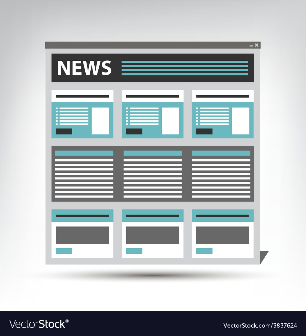 Web site news newspaper journal template in a vector | Price: 1 Credit (USD $1)