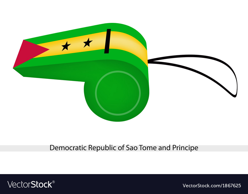 A whistle of the sao tome and principe vector | Price: 1 Credit (USD $1)