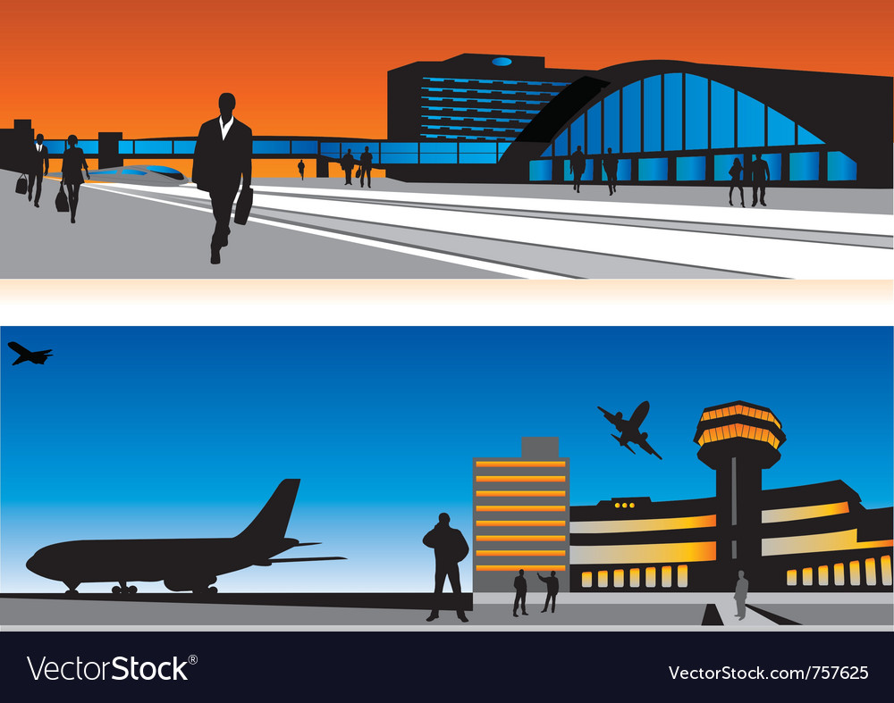 Air terminal and railway station vector | Price: 1 Credit (USD $1)