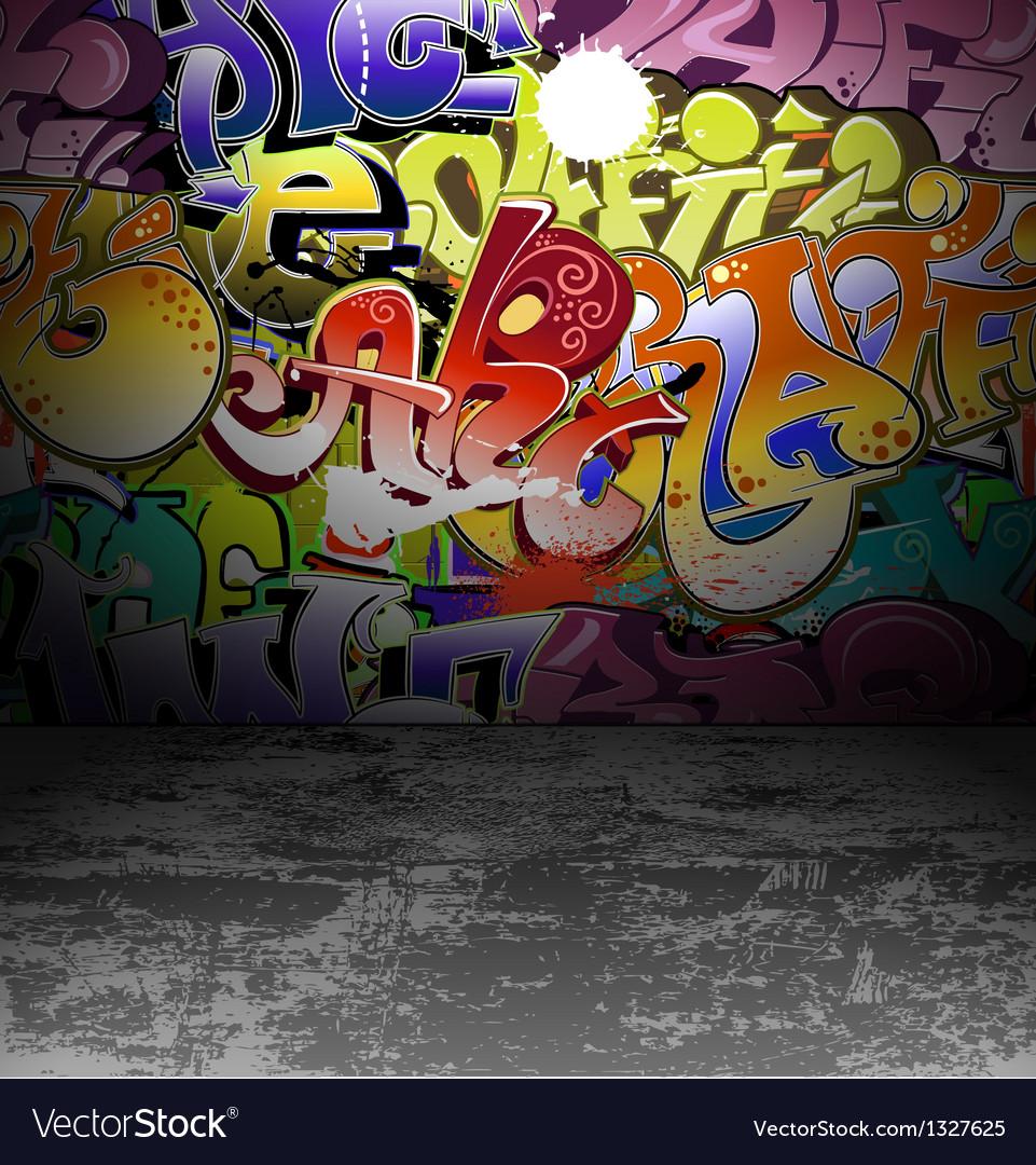 Graffiti wall art background vector | Price: 1 Credit (USD $1)