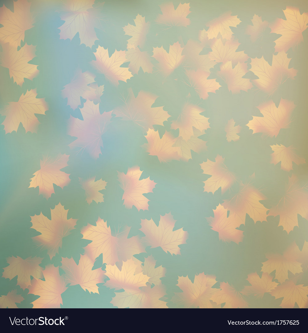 Grunge sky with autumn leaves eps 10 vector | Price: 1 Credit (USD $1)