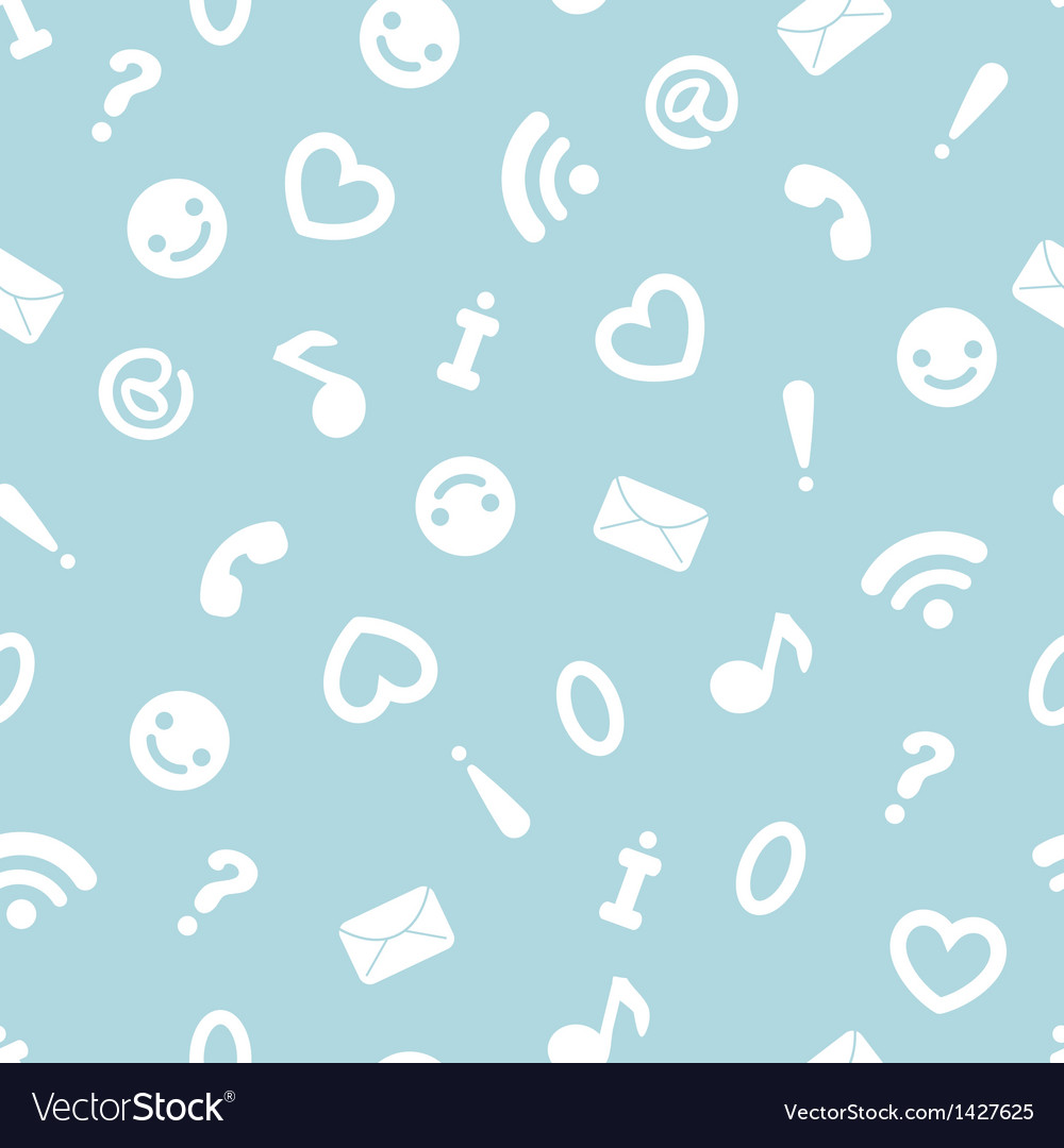 Internet symbols seamless pattern background vector | Price: 1 Credit (USD $1)