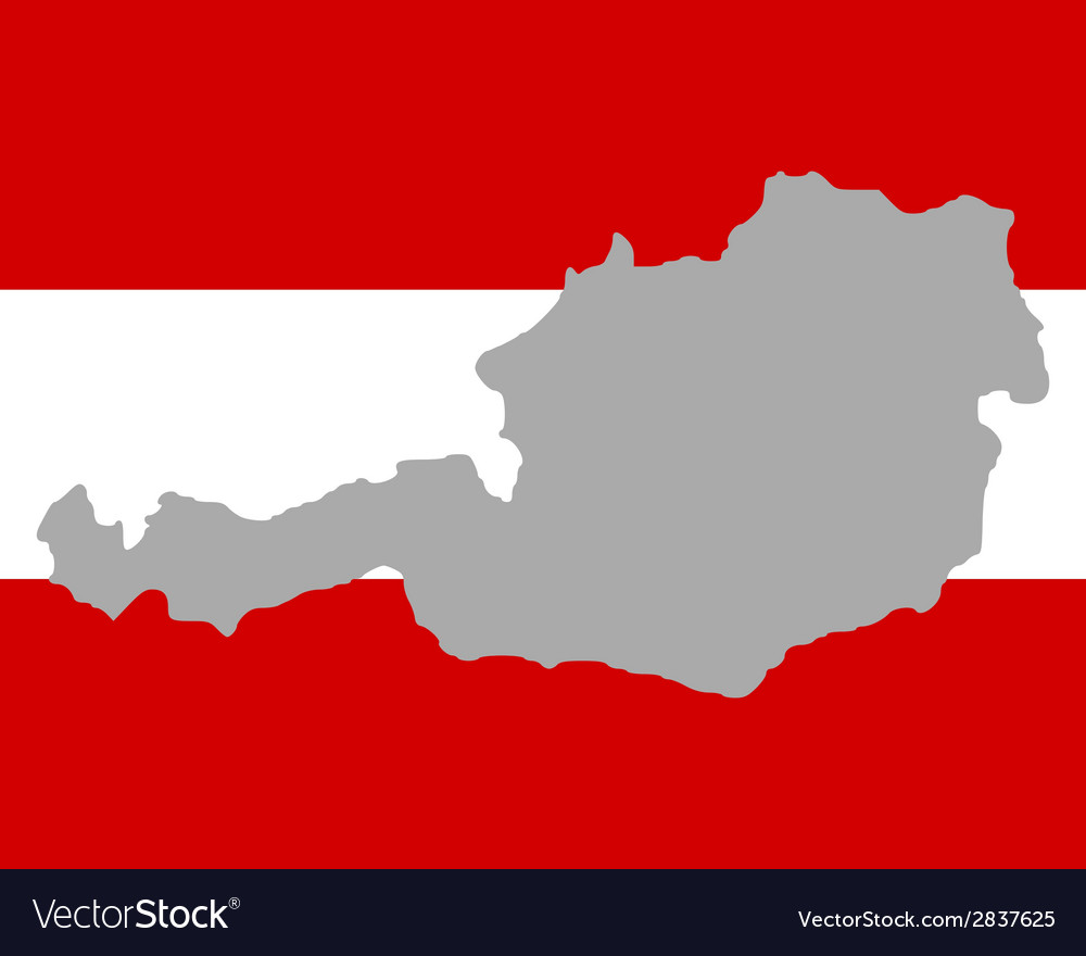 Map and flag of austria vector | Price: 1 Credit (USD $1)