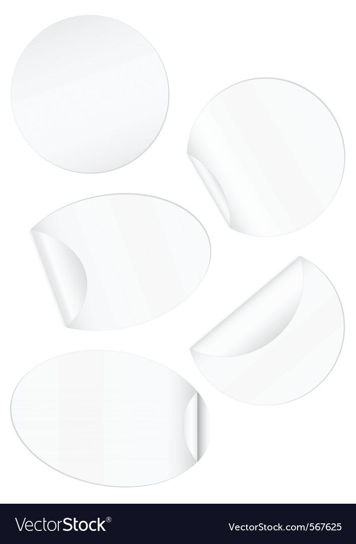 Stickers peeled edge set vector