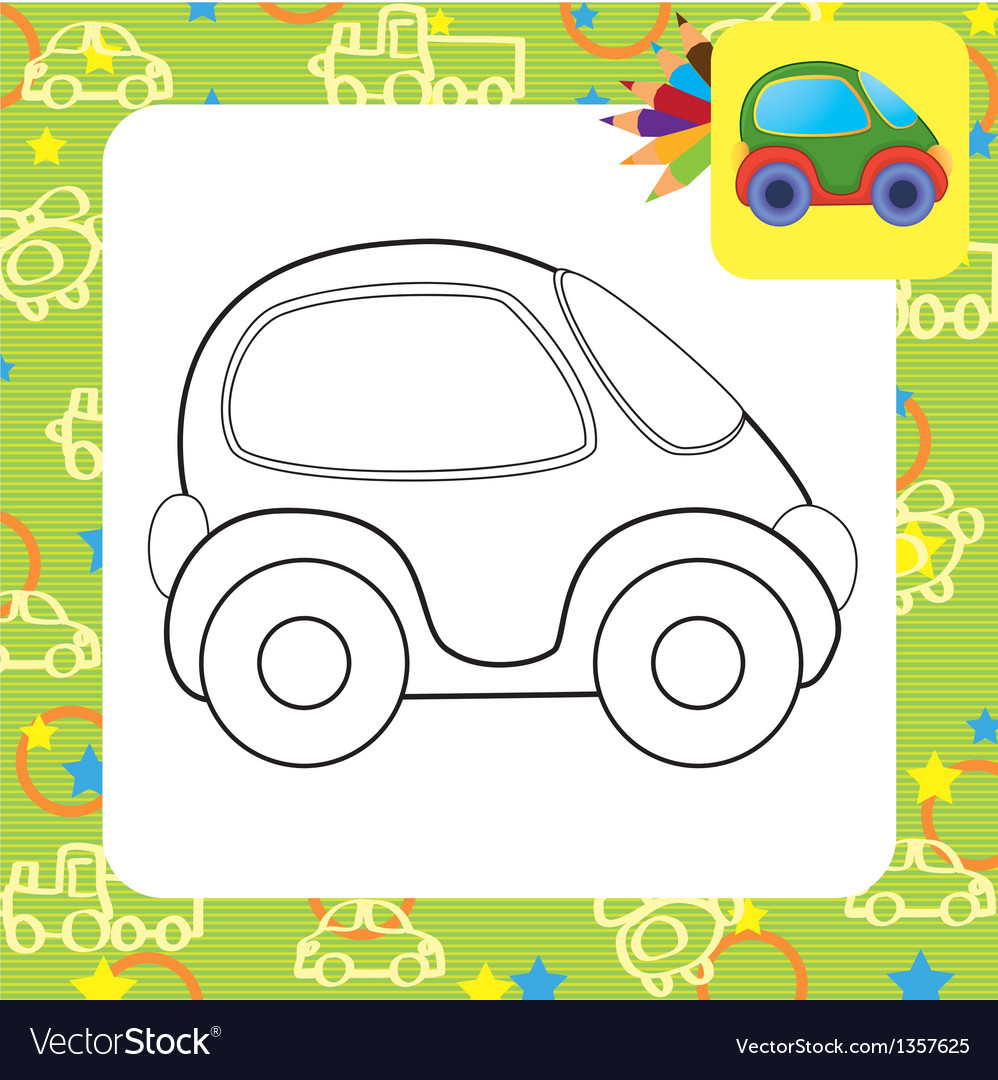Toy car for coloring vector   Price: 1 Credit (USD $1)