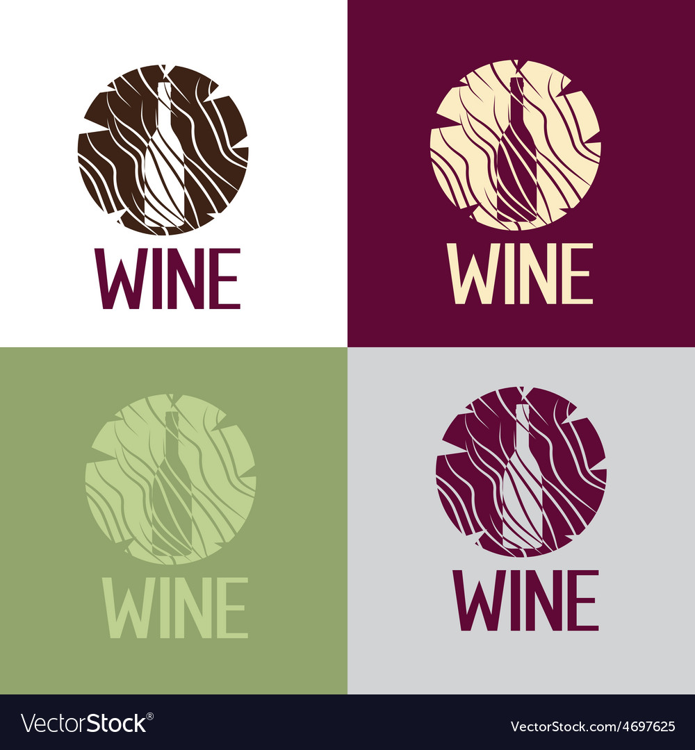 Wine bootle in wooden log vector | Price: 1 Credit (USD $1)