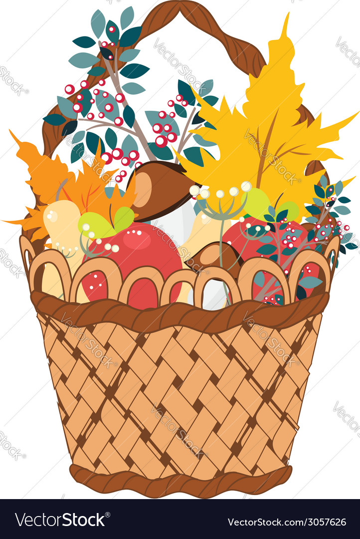 Basket of vegetables vector | Price: 1 Credit (USD $1)