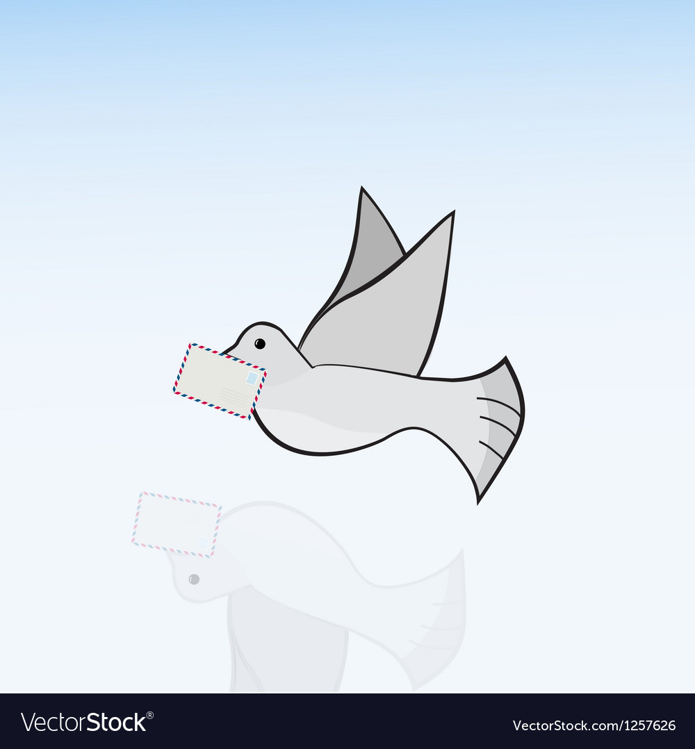 Carrier-pigeon vector | Price: 1 Credit (USD $1)