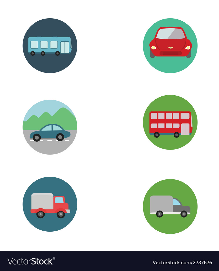 Cars icon set vector | Price: 1 Credit (USD $1)