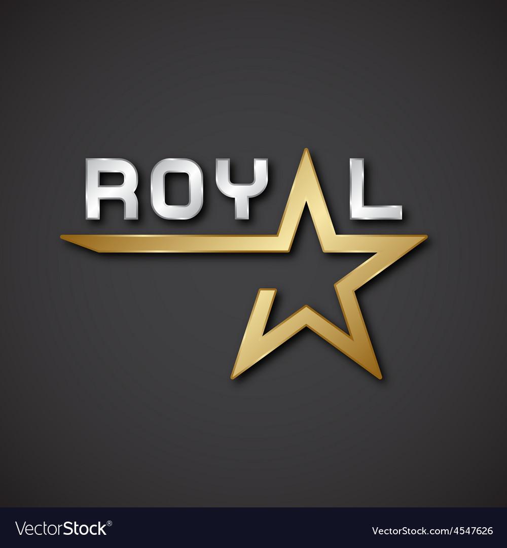 Eps10 royal golden star inscription icon vector   Price: 1 Credit (USD $1)