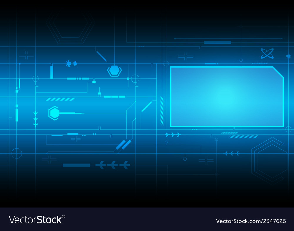 Future interface technology vector | Price: 1 Credit (USD $1)