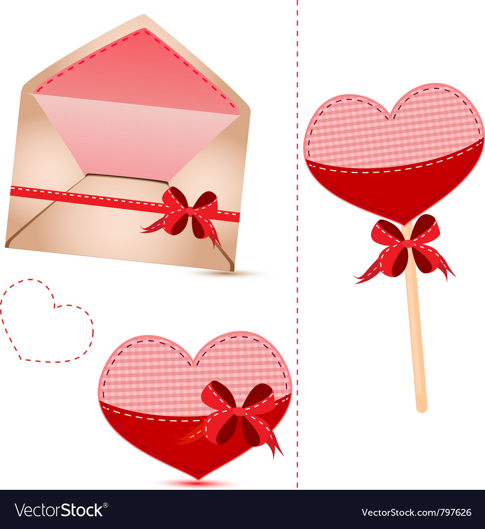 Gift set valentines day vector | Price: 1 Credit (USD $1)