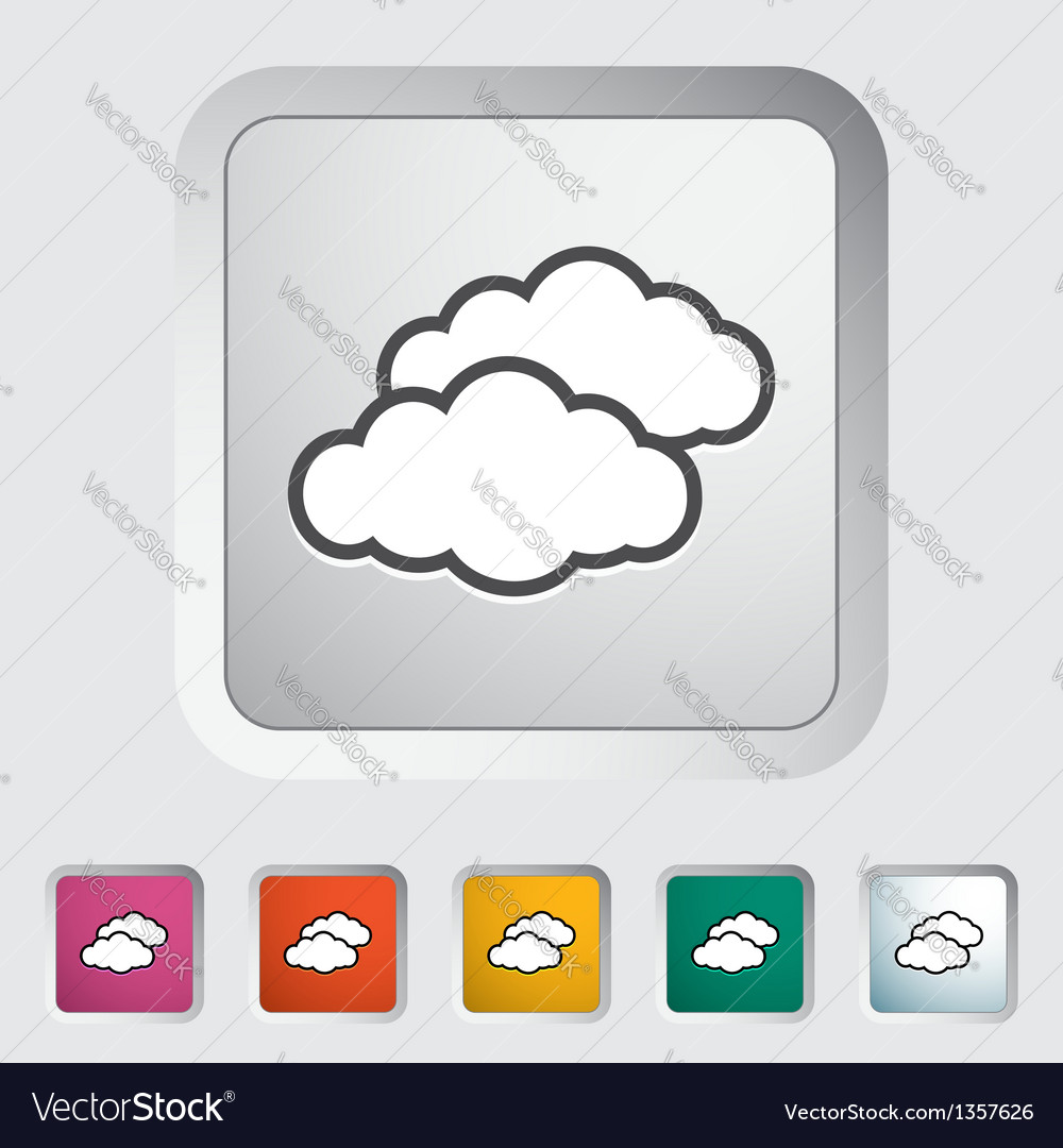 Overcast single icon vector | Price: 1 Credit (USD $1)