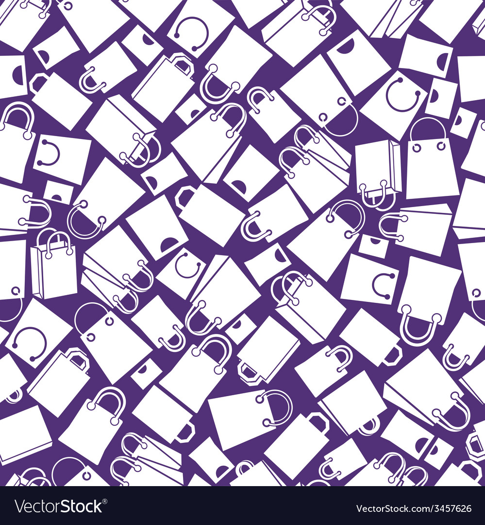 Shopping bags seamless background monochrome vector   Price: 1 Credit (USD $1)