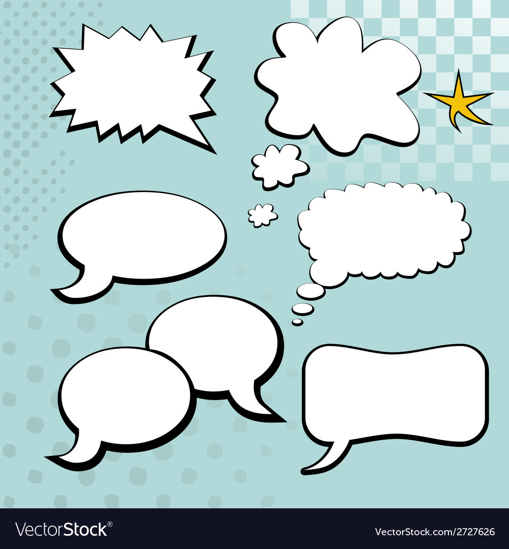 Speech bubble element vector | Price: 1 Credit (USD $1)