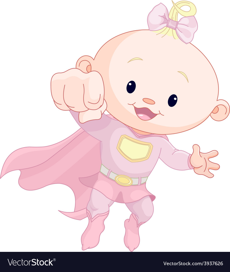 Super baby girl vector | Price: 3 Credit (USD $3)