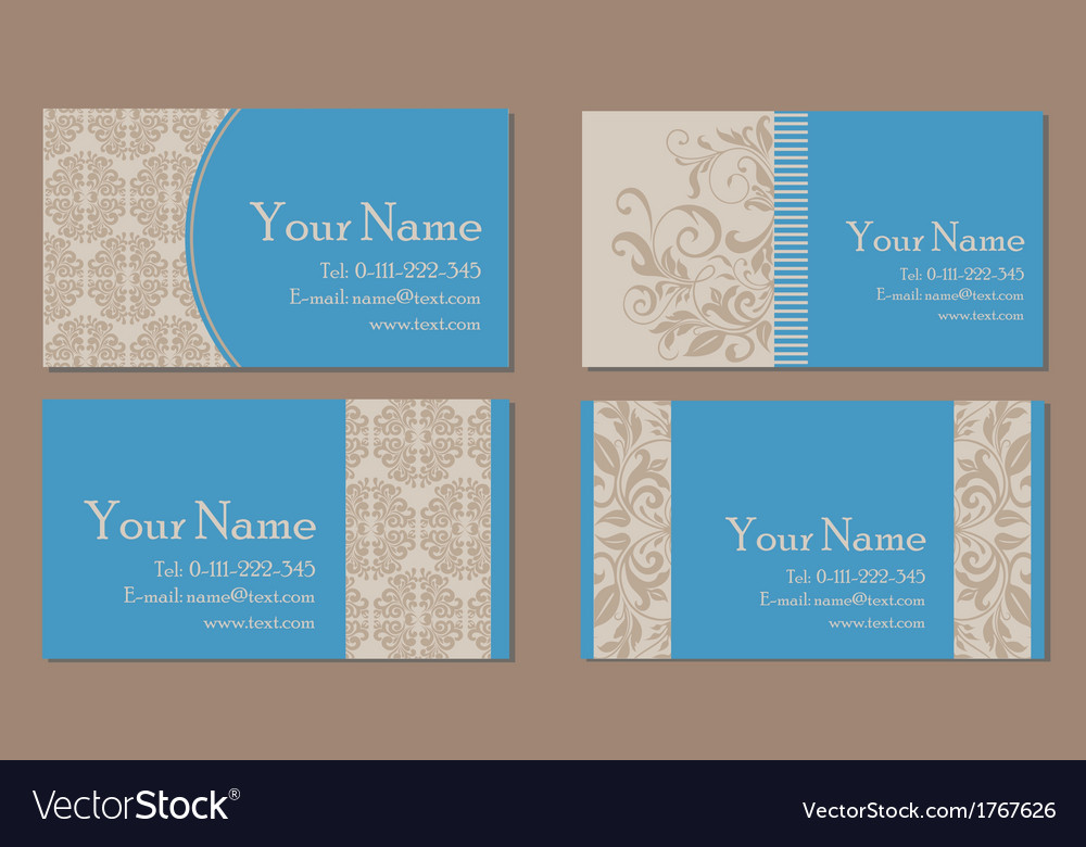 Vizit cards blue vector | Price: 1 Credit (USD $1)