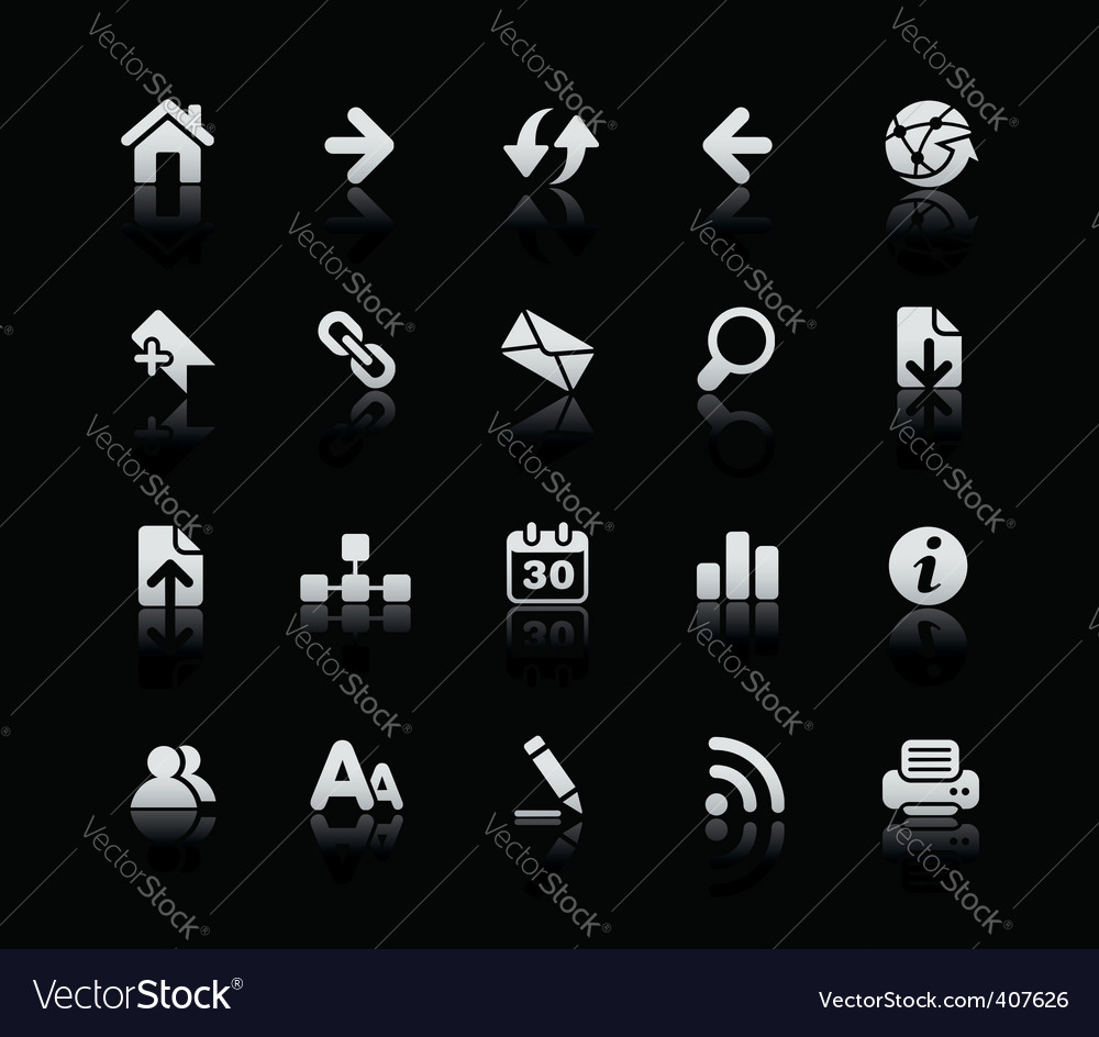 Web navigation icons vector | Price: 1 Credit (USD $1)