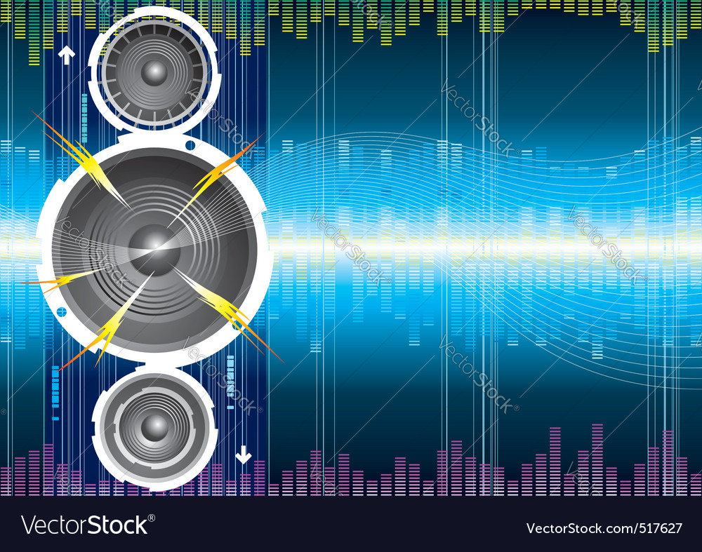Audio background vector | Price: 1 Credit (USD $1)