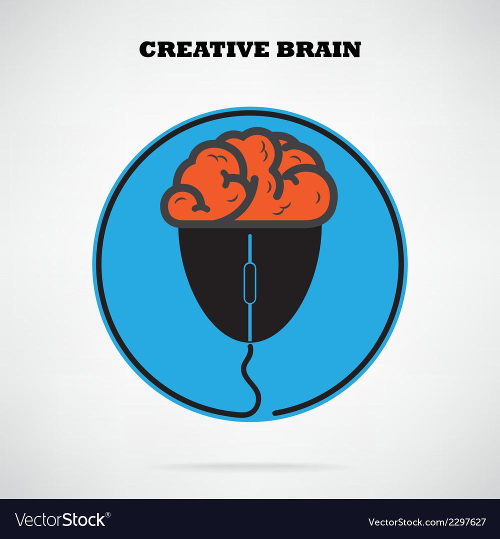 Creative brain symbol vector | Price: 1 Credit (USD $1)