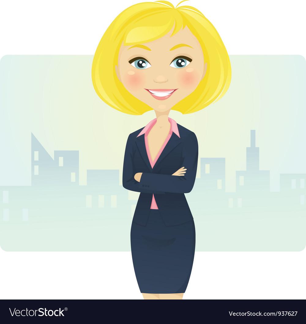Cute businesswoman vector | Price: 3 Credit (USD $3)