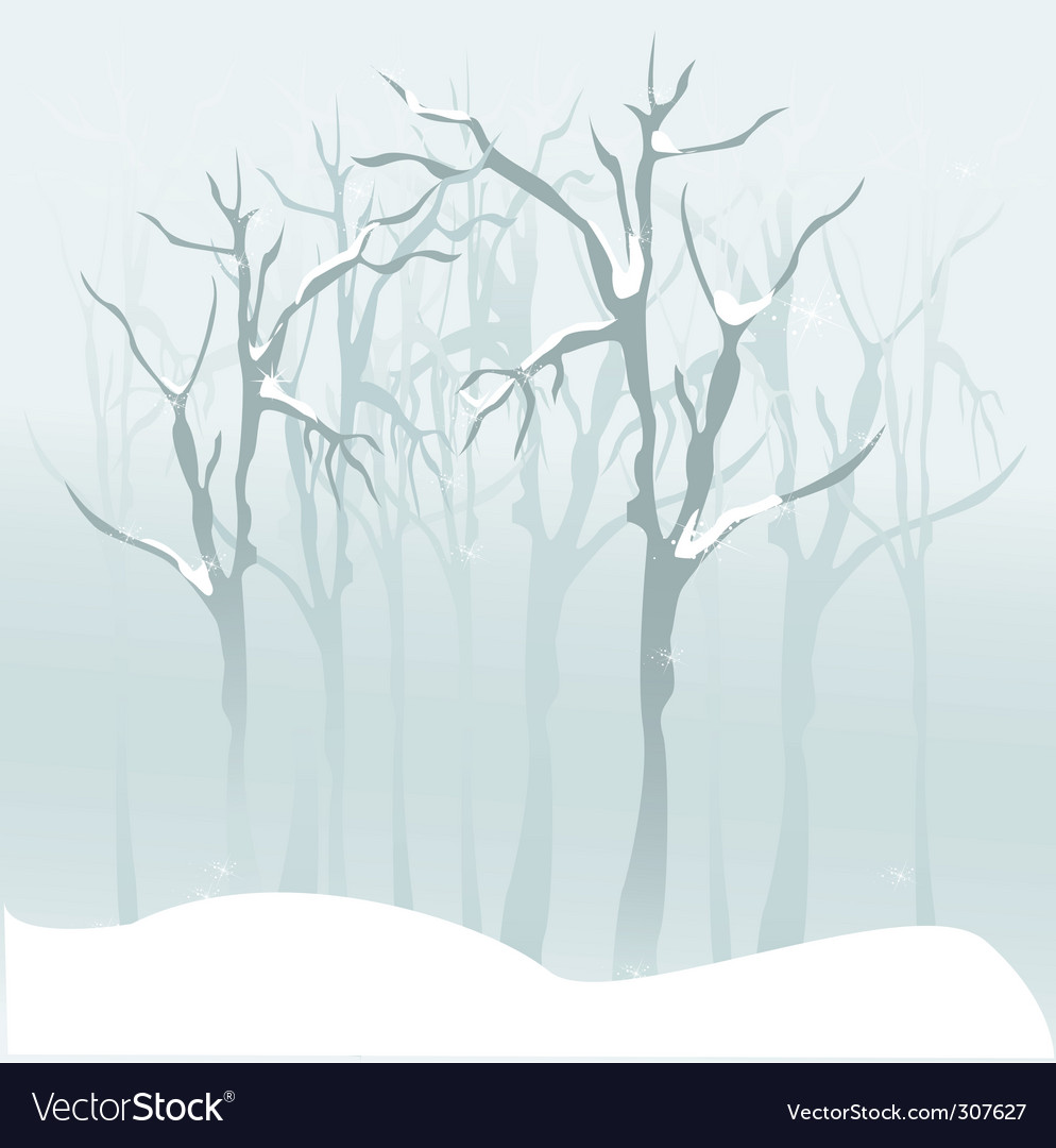 Forest snow vector | Price: 1 Credit (USD $1)