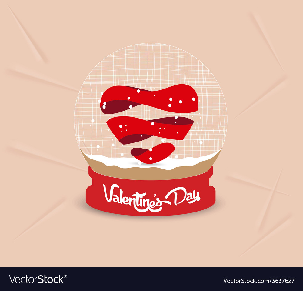 Happy valentines day heart globe vector | Price: 1 Credit (USD $1)