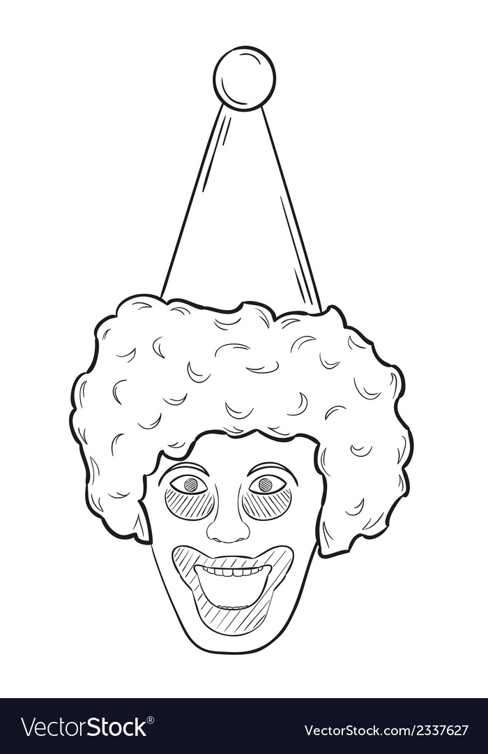 Head of the clown vector | Price: 1 Credit (USD $1)