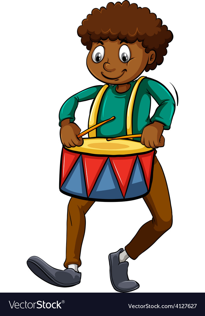 Man with a drum vector | Price: 3 Credit (USD $3)