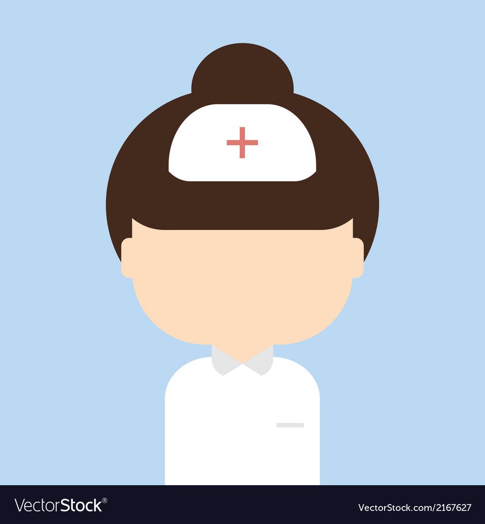 Nurse trendy flat style vector | Price: 1 Credit (USD $1)