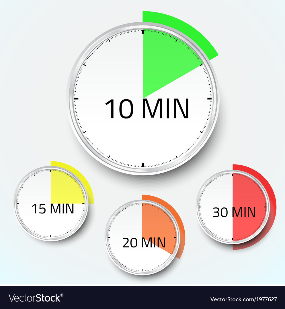 Realistic clock timer stopwatch icon vector | Price: 1 Credit (USD $1)