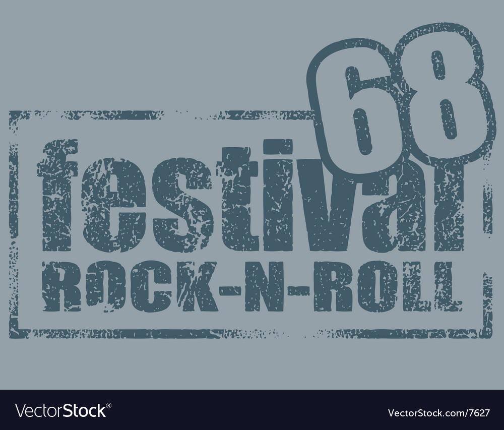 Rock stamp vector | Price: 1 Credit (USD $1)