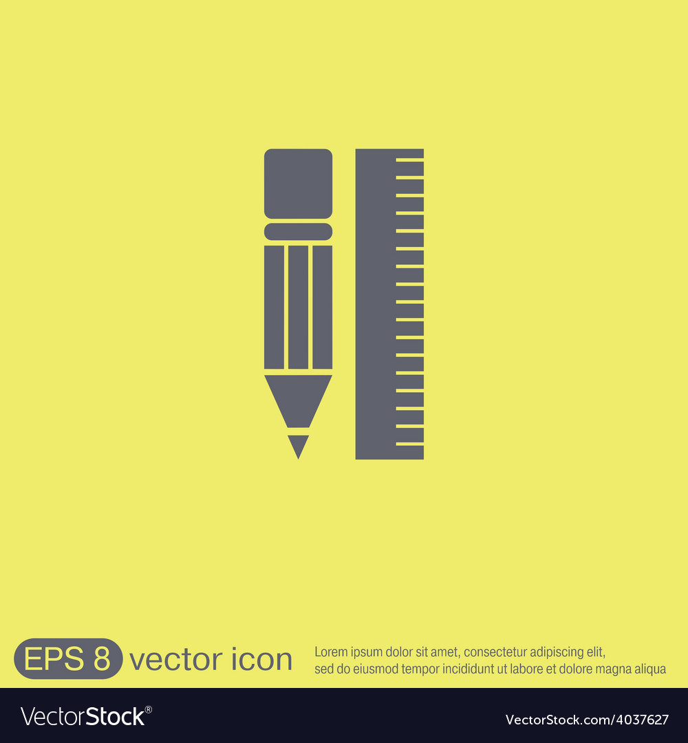 Ruler and pencil characters geometry vector   Price: 1 Credit (USD $1)