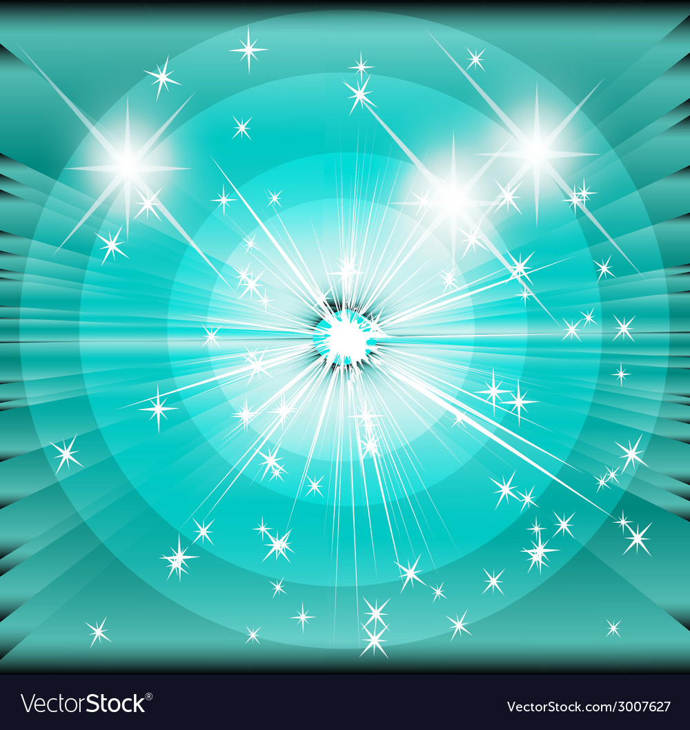 Star sunbeam blue background vector | Price: 1 Credit (USD $1)