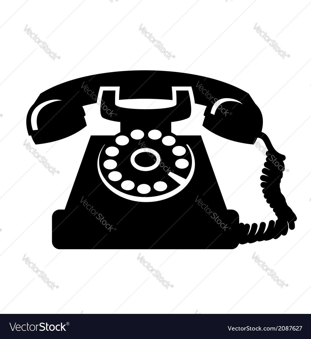 Vintage telephone icon vector | Price: 1 Credit (USD $1)