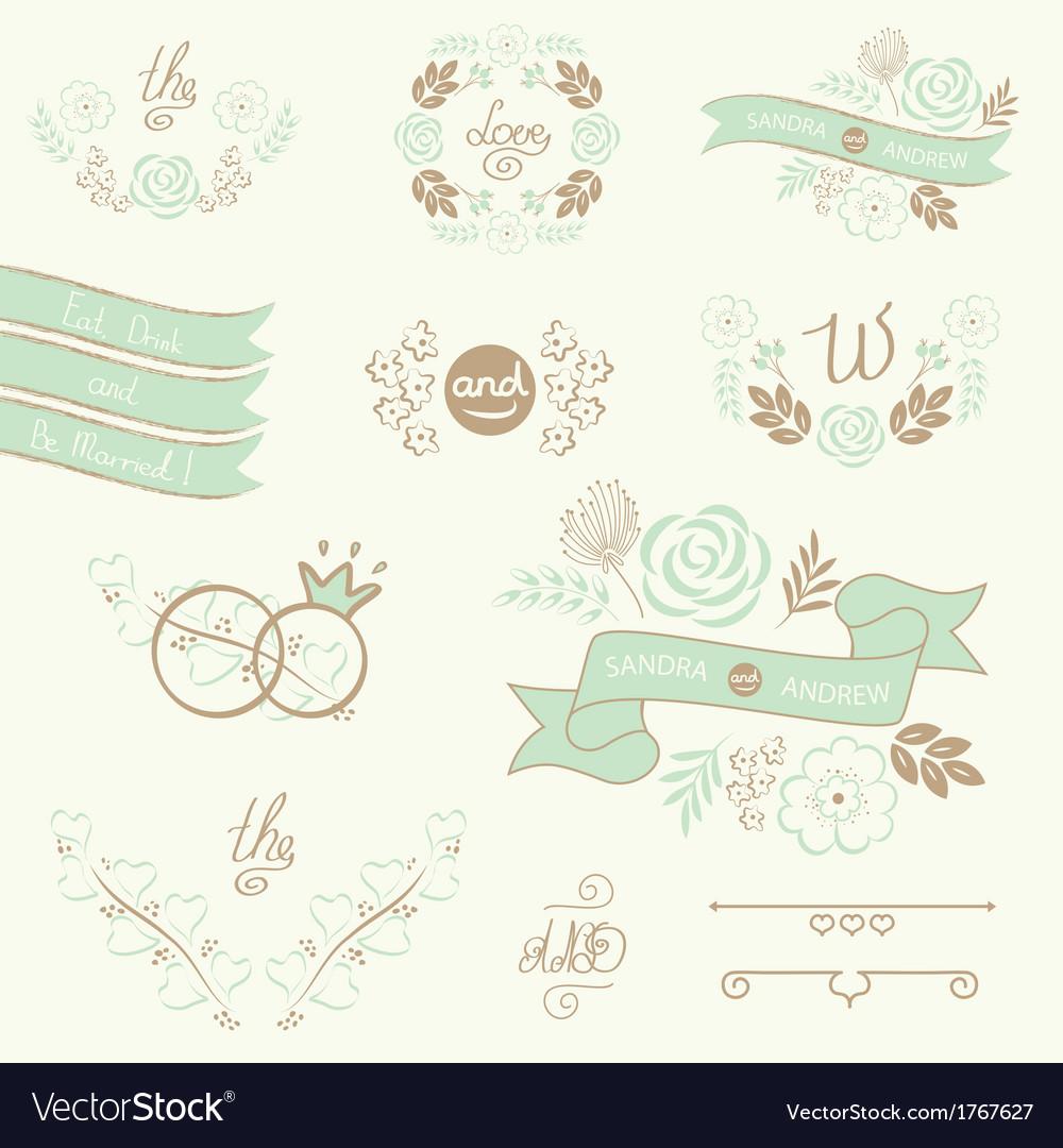 Wedding-elements-vector