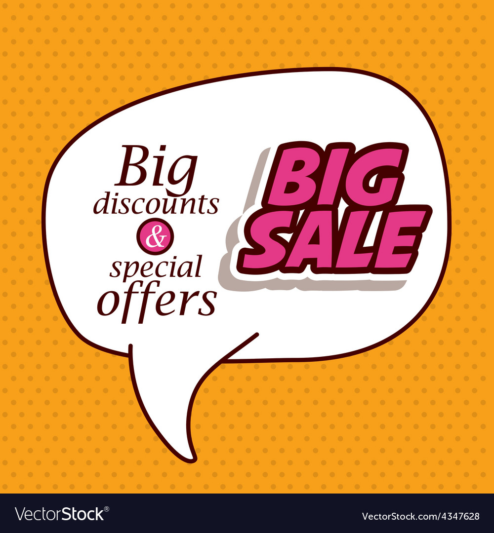 Big sale design vector | Price: 1 Credit (USD $1)