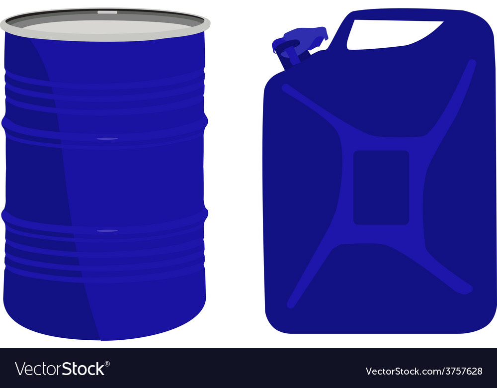 Blue barrel and canister vector | Price: 1 Credit (USD $1)