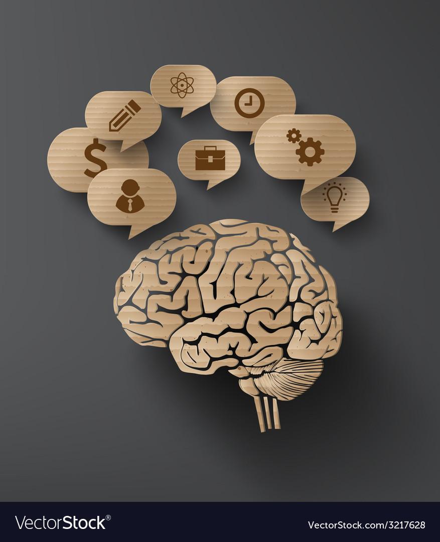 Brain and bubble speech vector | Price: 1 Credit (USD $1)