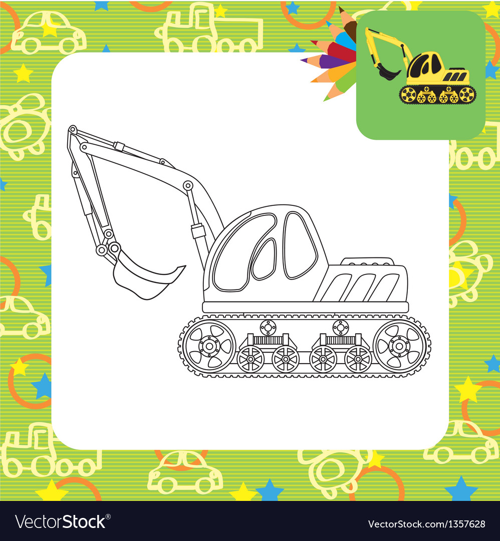 Dredge toy outlined vector | Price: 1 Credit (USD $1)