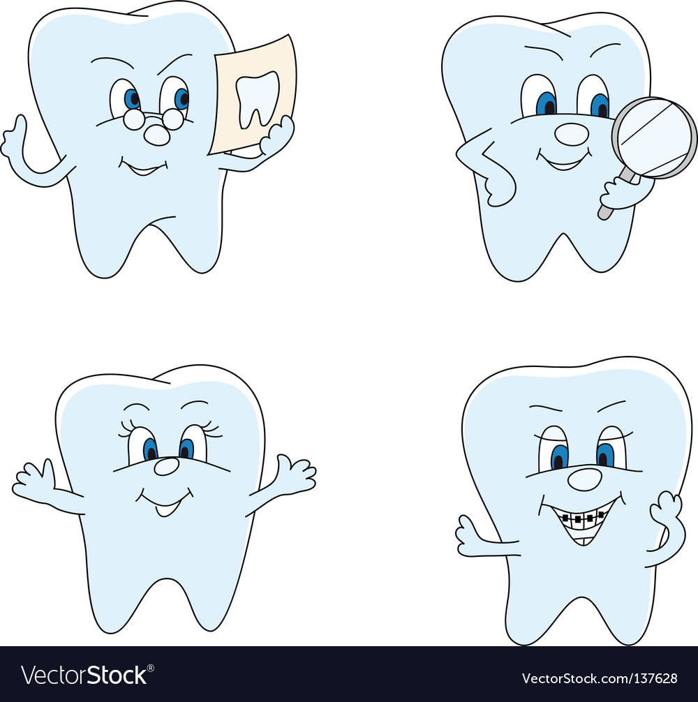 Funny teeth vector | Price: 1 Credit (USD $1)