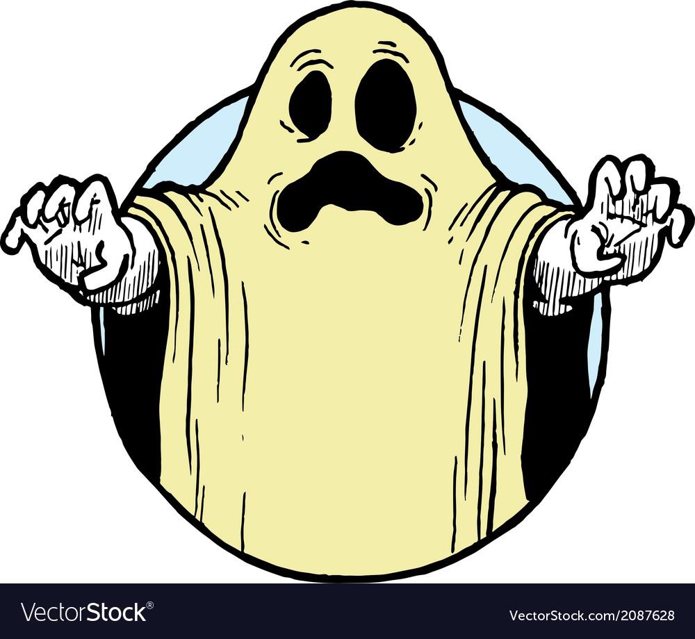 Halloween ghost costume vector | Price: 1 Credit (USD $1)