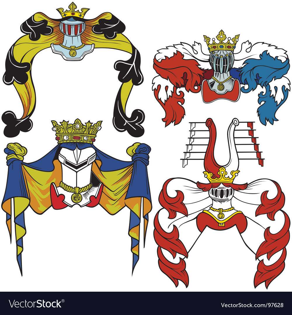Heraldic helmets vector | Price: 1 Credit (USD $1)