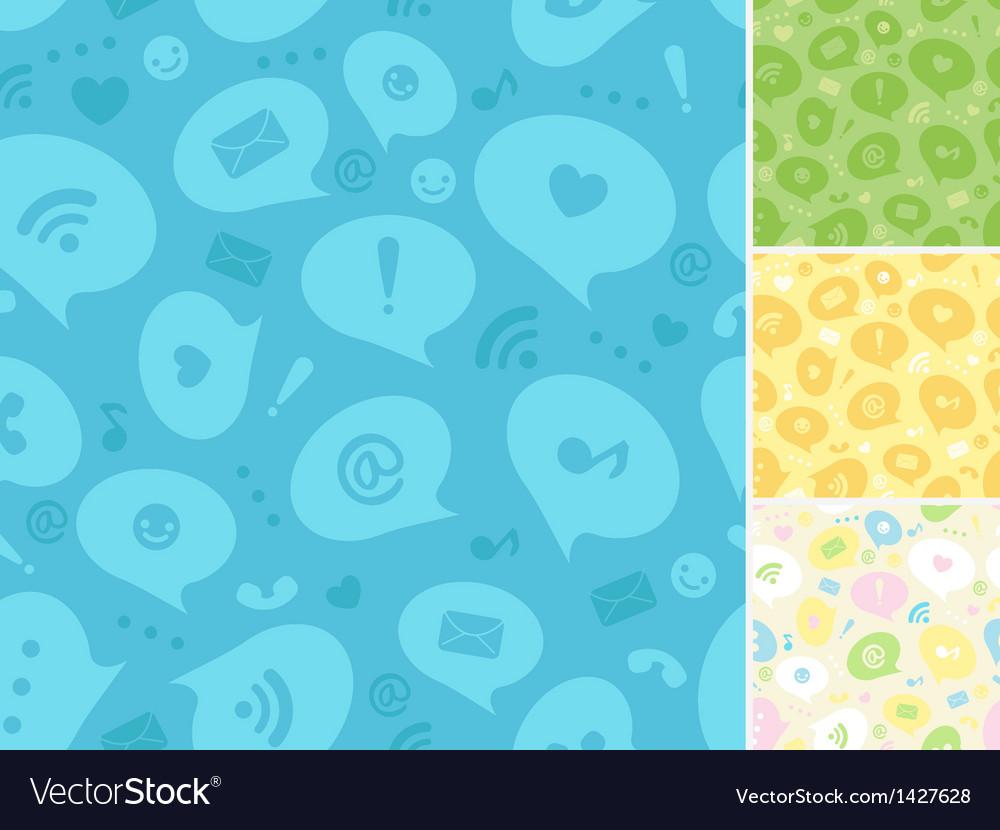 Internet message symbols seamless pattern vector | Price: 1 Credit (USD $1)